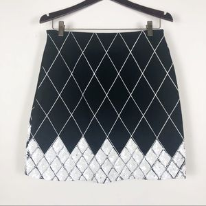 Haven bleu   Black Skirt Size Small With Sequins